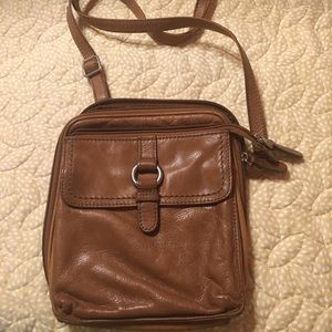 Leather fossil crossbody purse
